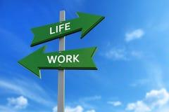 Βέλη ζωής και εργασίας απέναντι από τις κατευθύνσεις διανυσματική απεικόνιση