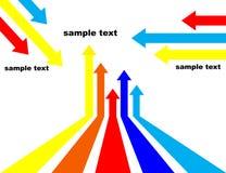 βέλη που χρωματίζονται Στοκ φωτογραφία με δικαίωμα ελεύθερης χρήσης