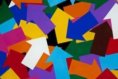 βέλη που χρωματίζονται Στοκ φωτογραφίες με δικαίωμα ελεύθερης χρήσης