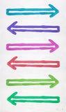 βέλη που χρωματίζονται Στοκ εικόνες με δικαίωμα ελεύθερης χρήσης