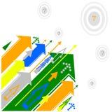 βέλη που χρωματίζονται Στοκ Εικόνες