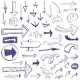 βέλη doodle Στοκ Εικόνες