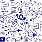 βέλη doodle Στοκ Εικόνα
