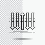 Βέλος, επιχείρηση, διάκριση, μπροστινός, εικονίδιο γραμμών προσωπικότητας στο διαφανές υπόβαθρο Μαύρη διανυσματική απεικόνιση εικ απεικόνιση αποθεμάτων