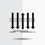 Βέλος, επιχείρηση, διάκριση, μπροστινός, εικονίδιο Glyph προσωπικότητας στο διαφανές υπόβαθρο r ελεύθερη απεικόνιση δικαιώματος