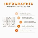 Βέλος, επιχείρηση, διάκριση, μπροστινό, πρότυπο Infographics προσωπικότητας για τον ιστοχώρο και παρουσίαση Γκρίζο εικονίδιο γραμ ελεύθερη απεικόνιση δικαιώματος