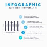 Βέλος, επιχείρηση, διάκριση, μπροστινό, πρότυπο Infographics προσωπικότητας για τον ιστοχώρο και παρουσίαση Γκρίζο εικονίδιο GLyp διανυσματική απεικόνιση