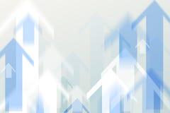 Βέλος που κινείται επάνω στο ύφος θαμπάδων κινήσεων Στοκ Εικόνες