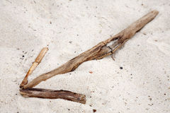 Βέλος στην άμμο Στοκ φωτογραφίες με δικαίωμα ελεύθερης χρήσης