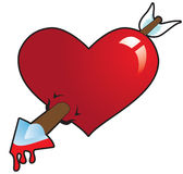 Βέλος στην καρδιά Στοκ εικόνα με δικαίωμα ελεύθερης χρήσης