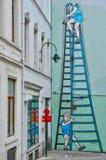 Βέλγιο, γραφική πόλη των Βρυξελλών Στοκ φωτογραφία με δικαίωμα ελεύθερης χρήσης