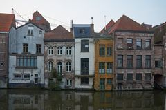 Βέλγων Όμορφη πόλη Gent στα ξημερώματα Στοκ φωτογραφία με δικαίωμα ελεύθερης χρήσης