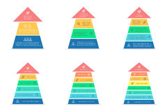 Βέλη για το infographics το σχέδιο εύκολο επιμελείται τα στοιχεία στο διάνυσμα Στοκ Φωτογραφία
