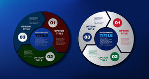 Βέλη για infographic Στοκ Εικόνες