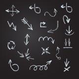 Βέλη, γραμμές, δείκτες - χέρι που σύρεται Στοκ Εικόνες