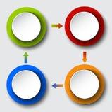 Βέλη κύκλων που τίθενται πληροφοριακά γραφικές Στοκ εικόνα με δικαίωμα ελεύθερης χρήσης