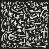 Βέλη - doodles θέστε Στοκ Εικόνες