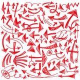 Βέλη - doodles θέστε Στοκ εικόνες με δικαίωμα ελεύθερης χρήσης