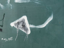 Βέλος γκράφιτι Στοκ Φωτογραφίες