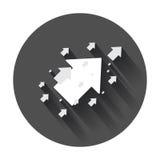 Βέλος επάνω στο διανυσματικό εικονίδιο Μπροστινή απεικόνιση σημαδιών βελών Επιχείρηση Στοκ Φωτογραφίες