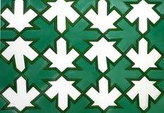 Βέλος στο διακοσμητικό ξύλινο μωσαϊκό σύστασης Στοκ Εικόνα