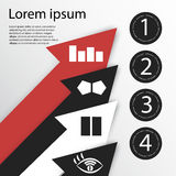 Βέλος Infographics Στοκ Φωτογραφία