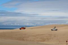 βήματα άμμου της Ρωσίας kurshskaya kosa οριζόντων αμμόλοφων που τεντώνουν Στοκ Φωτογραφίες