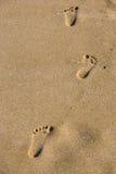 βήματα άμμου Στοκ φωτογραφίες με δικαίωμα ελεύθερης χρήσης