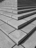 βήματα γωνιών bw Στοκ Εικόνα