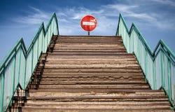 βήματα εισόδων τελών κανένα σημάδι Στοκ Εικόνα