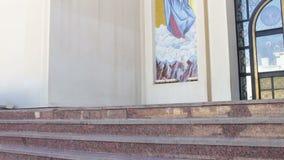 βήματα εκκλησιών απόθεμα βίντεο