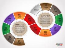 Βήματα κύκλων Infographics Στοκ Εικόνες