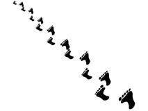 Βήματα ποδιών Στοκ Εικόνες