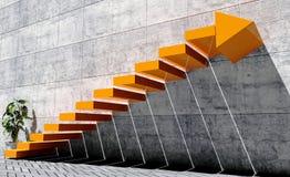 Βήματα που κινούνται προς τα εμπρός προς το επόμενο επίπεδο, έννοια επιτυχίας Στοκ Εικόνες