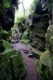 Βήματα που οδηγούν στο σπήλαιο σπηλιών Στοκ φωτογραφία με δικαίωμα ελεύθερης χρήσης
