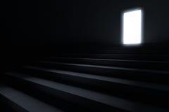 Βήματα που οδηγούν στο φως Στοκ εικόνα με δικαίωμα ελεύθερης χρήσης
