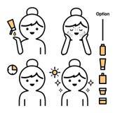 Βήματα πώς στην του προσώπου προσοχή r απεικόνιση αποθεμάτων