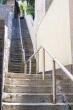 Βήματα σκαλών του Jacob σε Falmouth Κορνουάλλη Στοκ φωτογραφία με δικαίωμα ελεύθερης χρήσης