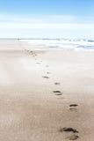 Βήματα στην άμμο Στοκ Φωτογραφία