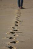 Βήματα στην άμμο Στοκ φωτογραφία με δικαίωμα ελεύθερης χρήσης