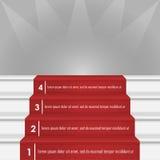 Βήματα στην εικόνα επιτυχίας Διανυσματική απεικόνιση