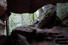 Βήματα στη σπηλιά Στοκ Εικόνα