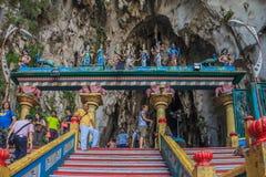 Βήματα στις σπηλιές Batu Στοκ Εικόνες