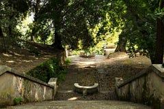Βήματα στο βοτανικό κήπο (Orto Botanico), Trastevere, Ρώμη, Ιταλία Στοκ φωτογραφία με δικαίωμα ελεύθερης χρήσης