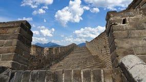 Βήματα στο Σινικό Τείχος της Κίνας σε Mutianyu στοκ φωτογραφία με δικαίωμα ελεύθερης χρήσης