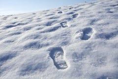 Βήματα στο χιόνι Στοκ φωτογραφίες με δικαίωμα ελεύθερης χρήσης