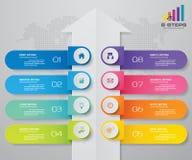 8 βήματα του προτύπου Infografics βελών Για την παρουσίασή σας απεικόνιση αποθεμάτων