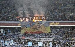 Βήματα του σταδίου NSK Olimpiyskyi σε Kyiv κατά τη διάρκεια του UEFA Ευρώπη Λ Στοκ Φωτογραφία