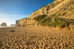Βήματα Gibson: παραλία και απότομοι βράχοι, Αυστραλία Στοκ Εικόνα