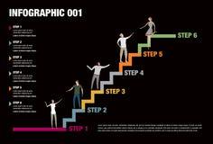 Βήματα Infographic Στοκ Φωτογραφίες